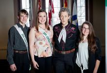 (l-r) Michael Congdon, Erica Jackson, Temple Grandin, Kelsey Morehouse